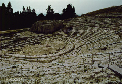 Greek theatre,61 rows of seats,15.000 spectators.      