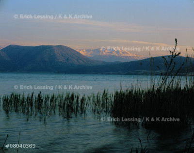 The lake of Egredir in the Taurus mountains, Turkey,   on the road to Antiochia in Pisidia. This is the site  of the ancient city of Prostanna. Saint Paul passed by many times on his missionary travels.