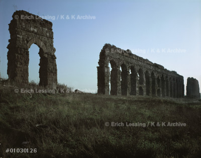Aqua Claudia outside Rome. The first                   