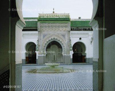 Mosque Qarawyin, Fez; view from the main entrance      