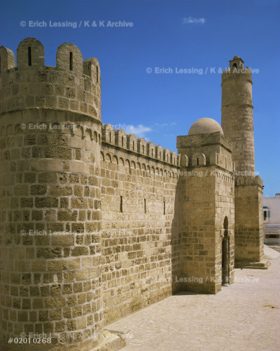 The Ribat (fortress) of Sousse, Tunisia, one of a      